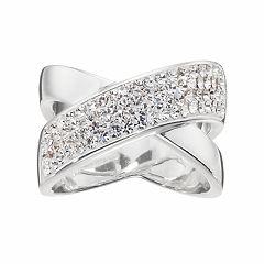 Confetti Crystal Crisscross Ring