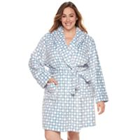 Plus Size SONOMA Goods for Life™ Embossed Plush Short Robe