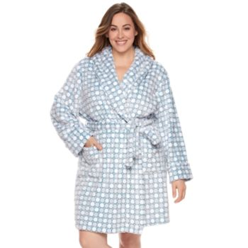 Plus Size SONOMA Goods for Life™ Embossed Plush Short Robe