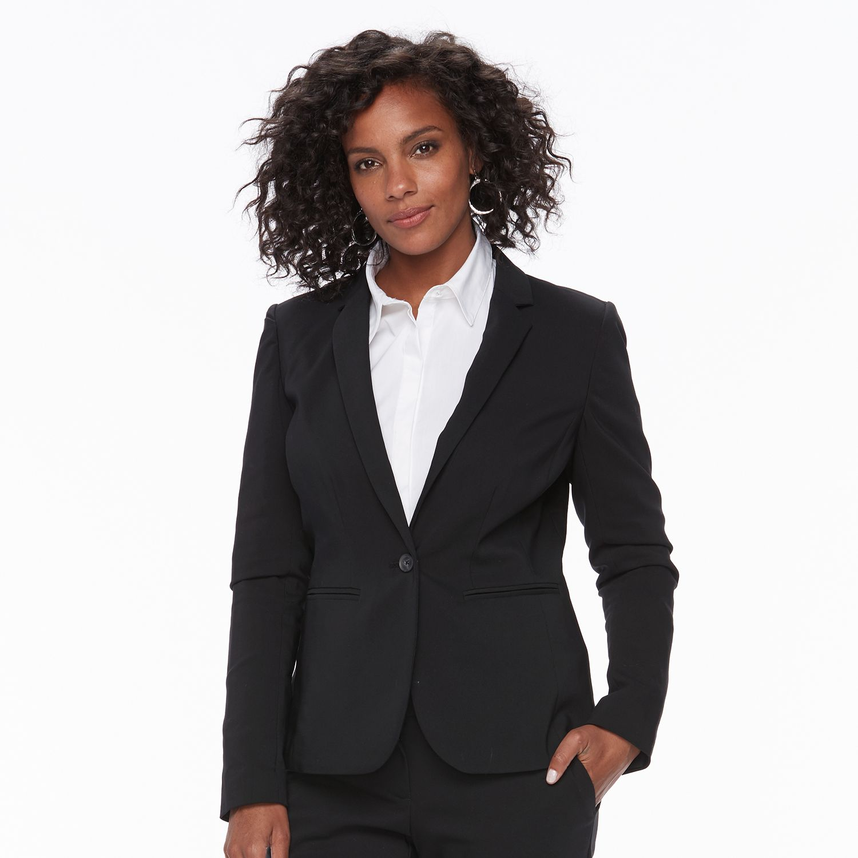Black and white striped blazer kohls