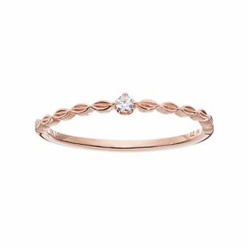 LC Lauren Conrad 10k Rose Gold Diamond Accent Marquise Ring