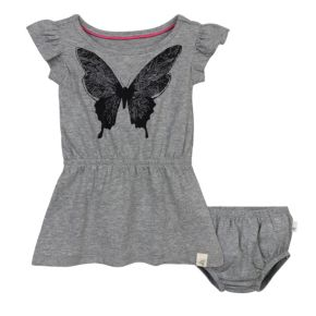 Baby Girl Burt's Bees Baby Organic Butterfly Dress & Bloomer Set
