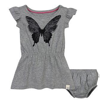 Baby Girl Burt's Bees Baby Organic Butterfly Dress & Bloomer Set