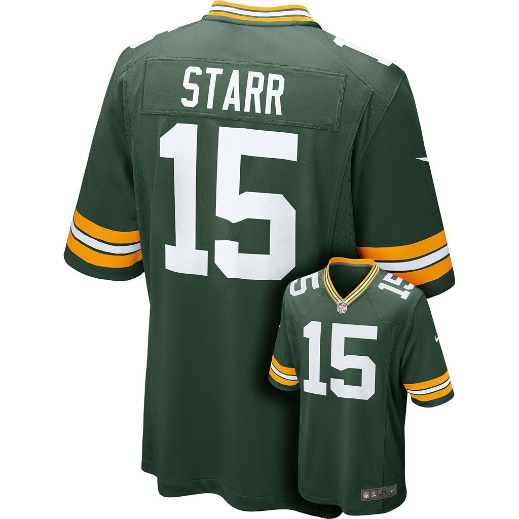 Men's Nike Green Bay Packers Bart Starr Game NFL Replica Jersey