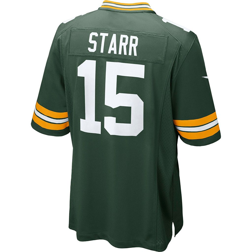 Men's Nike Green Bay Packers Bart Starr Game NFL Replica Jersey