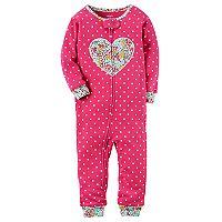 Toddler Girl Carter's Heart Applique Pajamas