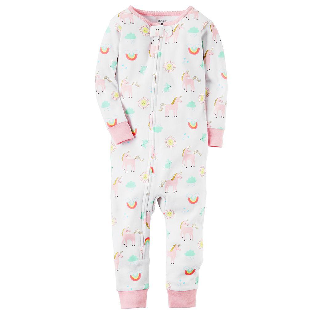 Toddler Girl Carter's Unicorn Pajamas