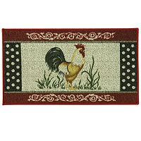 Bacova Classic Berber Cock-A-Doodle Rooster Rug - 1'10'' x 3'4''