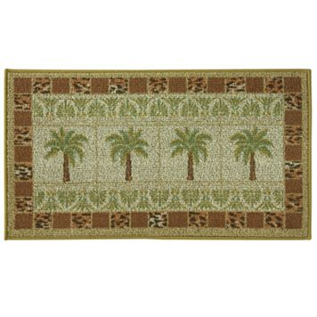 Bacova Classic Berber Oasis Palms Grid Rug - 1'10'' x 3'4''