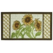 Bacova Classic Berber Framed Sunflower Rug - 1'10'' x 3'4''