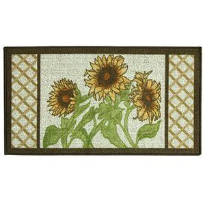 Bacova Classic Berber Framed Sunflower Rug - 1'10'' x 3'4''