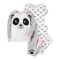 Toddler Girl Carter's Panda Tees & Pants Pajama Set