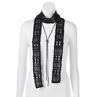 Mudd® Crochet Skinny Scarf & Bolo Necklace Set