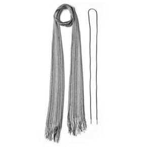 Mudd® Striped Skinny Scarf & Lariat Necklace Set