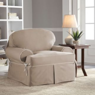 Serta Relaxed Fit Twill Chair Slipcover
