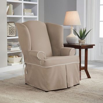 Serta Relaxed Fit Wingback Chair Slipcover