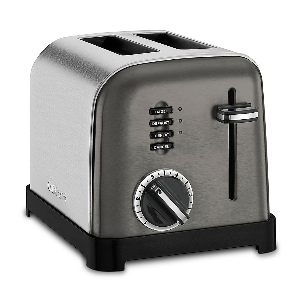 Cuisinart Black Stainless Steel 2-Slice Classic Metal Toaster