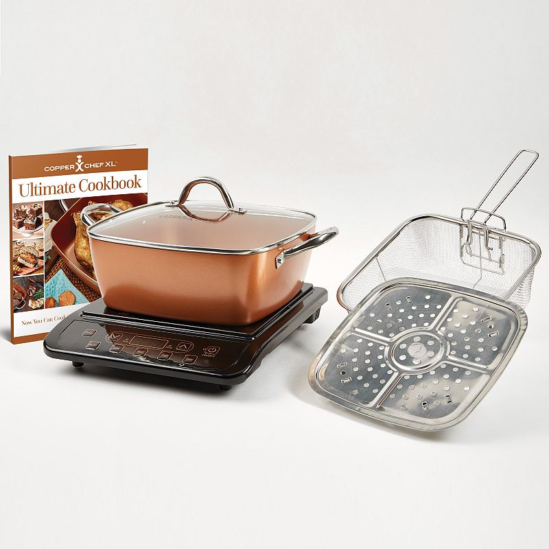 copper chef xl 5 pc casserole pan set with induction. Black Bedroom Furniture Sets. Home Design Ideas