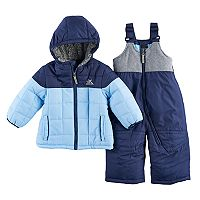 Baby Boy ZeroXposur Heavyweight Quilted Jacket & Bib Overall Snow Pants Set