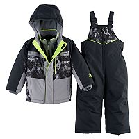 Toddler Boy ZeroXposur Heavyweight Abstract Jacket & Bib Overall Snow Pants Set