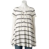 Women's Olivia Sky Lace Up Swing Tunic