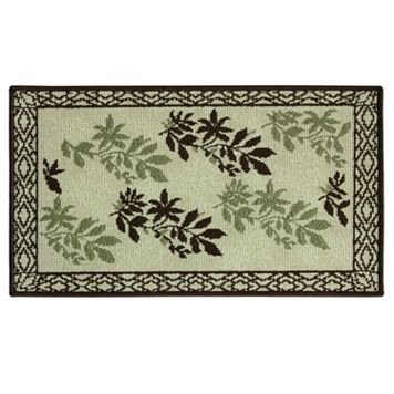 Bacova Reliance Framed Hickory Leaf Rug - 1'8'' x 2'9''