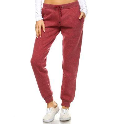 Women's White Mark Side-Stripe Jogger Pants
