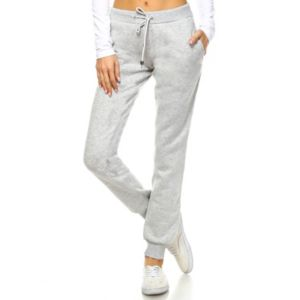 Women's White Mark Side-Stripe Jogger Pants