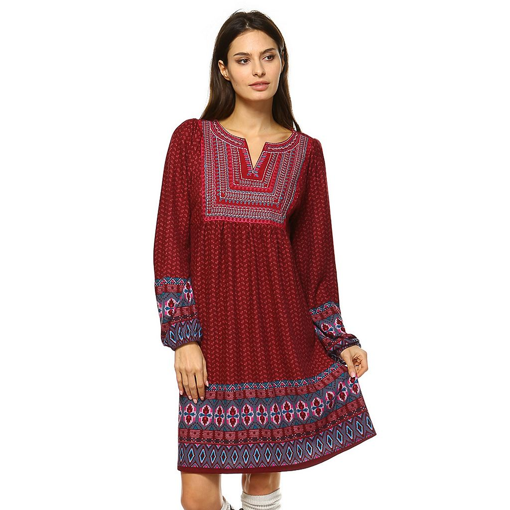 Women's White Mark Smocked Sweaterdress