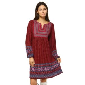 Women's White Mark Smocked Sweaterdress