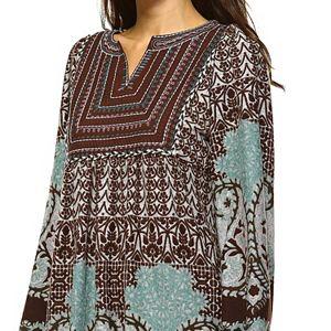 Women's White Mark Paisley Sweaterdress