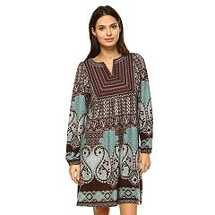 Women's White Mark Paisley Sweaterdress