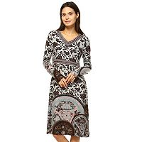 Women's White Mark Print Midi Sweaterdress