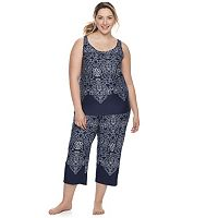 Plus Size Apt. 9® Pajamas: Must Have Capris & Tank PJ Set