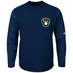 Men's Majestic Milwaukee Brewers Tech Fleece Tee