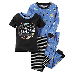 Toddler Boy Carter's 4 pc Space 'Bedtime Explorer' Tops & Pants Pajama Set