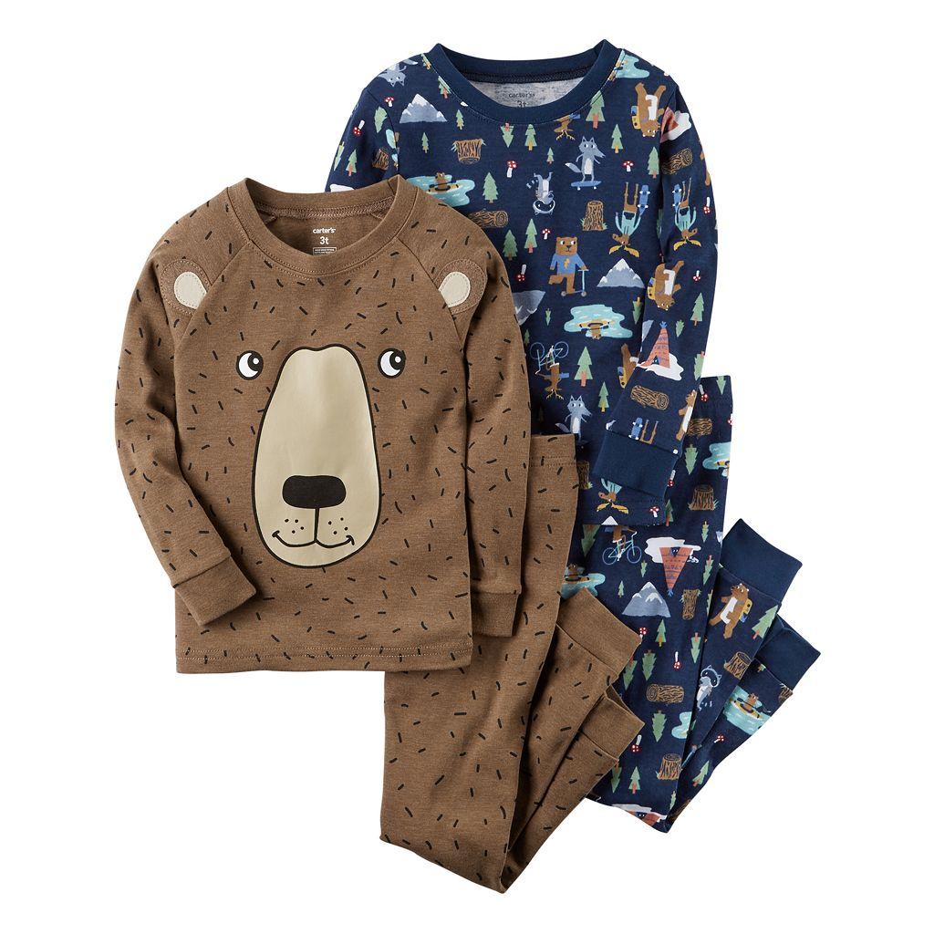 Toddler Boy Carter's 4-pc. Bear Tops & Pants Pajama Set