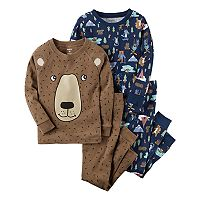 Toddler Boy Carter's 4-pc. Bear Tops & Pants Pajama Set