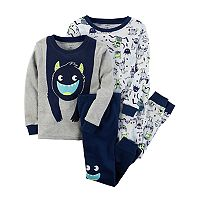 Toddler Boy Carter's 4-pc. Monsters Tops & Pants Pajama Set