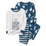 "Toddler Boy Carter's 4-pc. ""The Abominable Snore Man"" Tops & Pants Pajama Set"