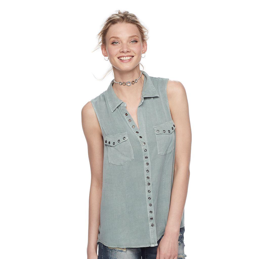 Women's Rock & Republic® Grommet Shirt