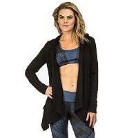 Women's PL Movement by Pink Lotus Open-Front Hooded Cardigan