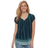 Women's SONOMA Goods for Life™ Pintuck Tassel Tee