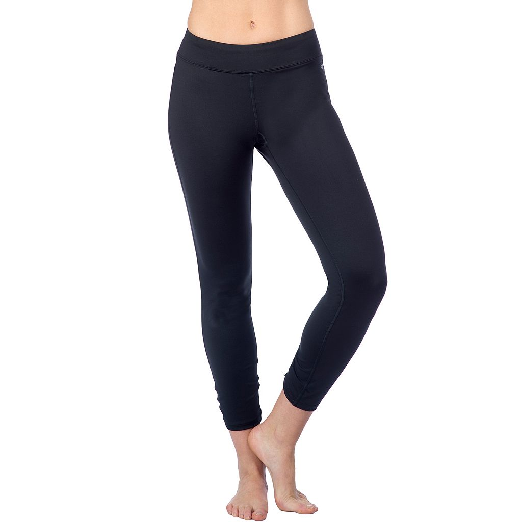 Women's PL Movement by Pink Lotus Solid Workout Capri Leggings