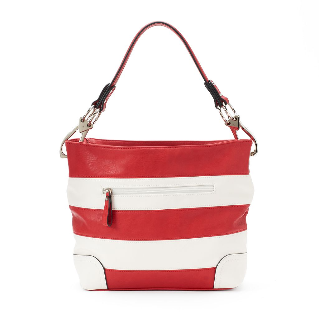 Deluxity Adalyn Striped Hobo