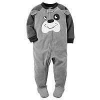 Baby Boy Carter's Dog Fleece Footed Pajamas