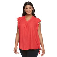 Plus Size Apt. 9® Ruffle Georgette Top