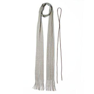 Mudd® Striped Skinny Scarf & Bolo Necklace Set