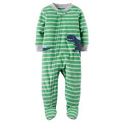 Baby Boy Carter's Dinosaur Fleece Footed Pajamas