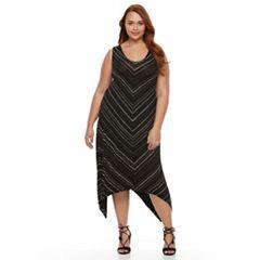 Plus Size Apt. 9® Shark-Bite Maxi Tank Dress